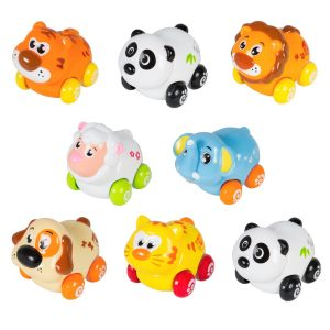 Cartoon Animal Push Cars