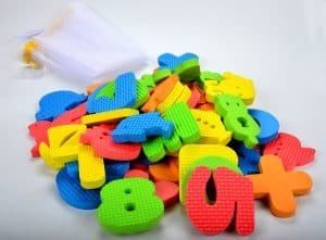 Bath Numbers letters