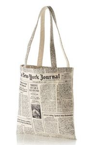 Newsprint Tote Bag