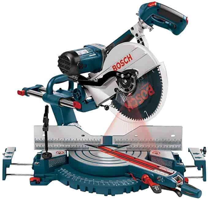 Bosch 5412L 12-Inch Dual Bevel Slide Miter Saw with Laser Tracking - Power Miter Saws