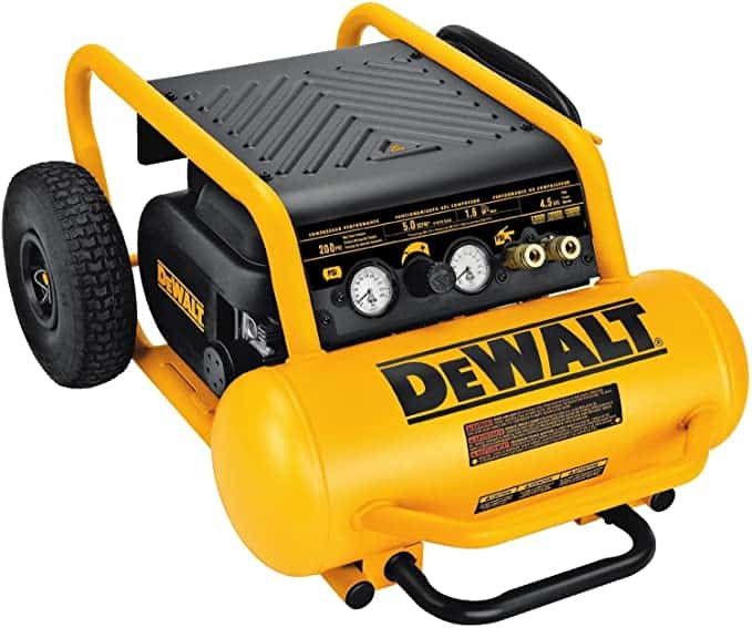 DEWALT D55146 4-1/2-Gallon 200-PSI Hand Carry Compressor with Wheels: Home Improvement