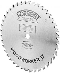 Forrest WW10407100 Woodworker II 10-Inch 40-tooth ATB .100 Kerf Saw Blade with 5/8-Inch Arbor - Forrest Saw Blades
